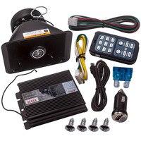 For Alarm Police Fire Warning 400W 8 Sound Horn Speaker PA MIC System for Universal DC12V