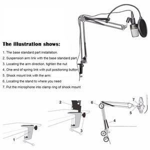Image 3 - BM700 micro à condensateur professionnel Microfono + support de micro NB35 + support anti choc + dispositif de prévention des éruptions Microphone de Studio
