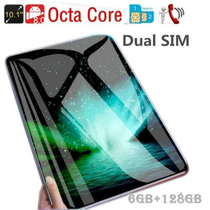 Hot Sell 10.1Inch Octa Core 6G+128G Android 8.1 WiFi Tablet PC Dual SIM Dual Camera Bluetooth 4G WiFi Call Phone Tablet