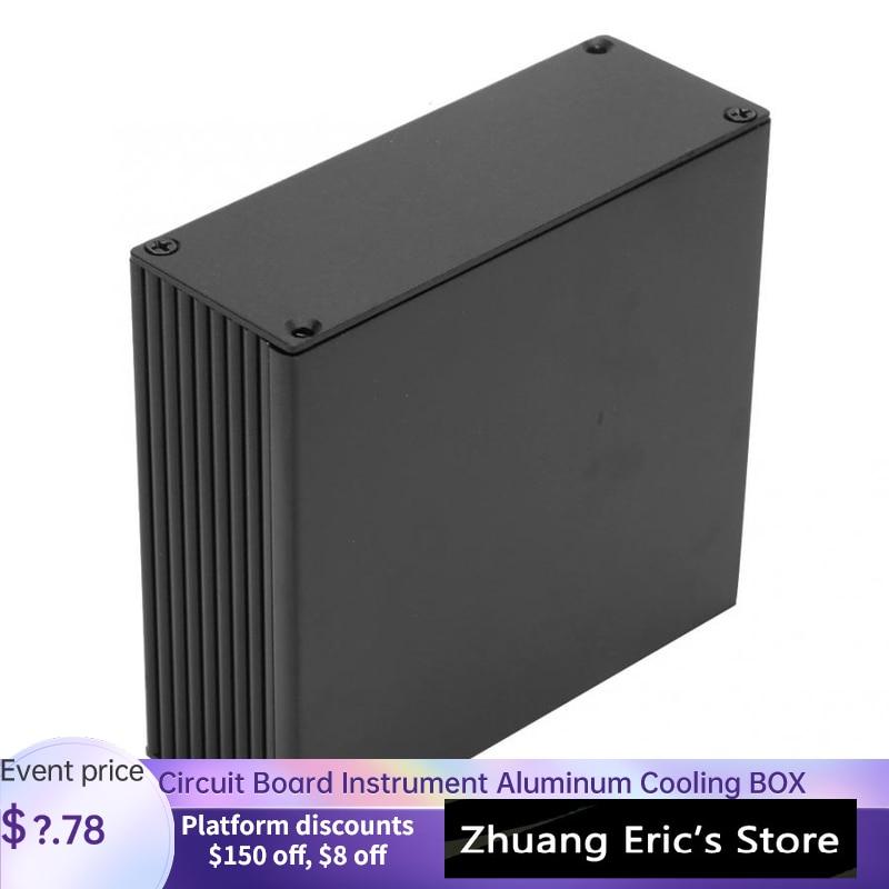 Алюминиевая охлаждающая коробка для печатных плат, корпус для электронного проекта «сделай сам», 40*110*100 мм для рассеивания тепла