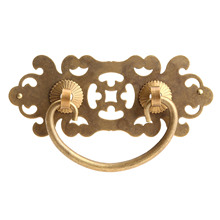 цена на 10.2*5.5cm Antique Brass Furniture Handle Drawer Cabinet Handles and Knob Door Kitchen Pull Handle Decorative Furniture Fittings