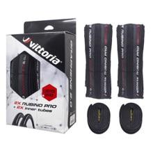 1 par vittoria rubino pro g2.0 grafite corrida 2.0 700x25c pneus dobráveis com 2 tubos internos livres pneu de estrada