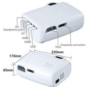 Image 2 - WZATCO E600 الروبوت 10.0 واي فاي الذكية المحمولة مصغرة جهاز عرض (بروجكتور) ليد دعم كامل HD 1080p 4K AC3 الفيديو المسرح المنزلي متعاطي المخدرات Proyector