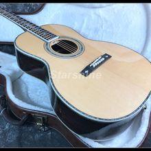2019 Customized Full Solid OM45 Acoustic Guitar L-ZZZ Abalone Inlay Ebony Fingerboard Bone Nut/guitar classical цены онлайн