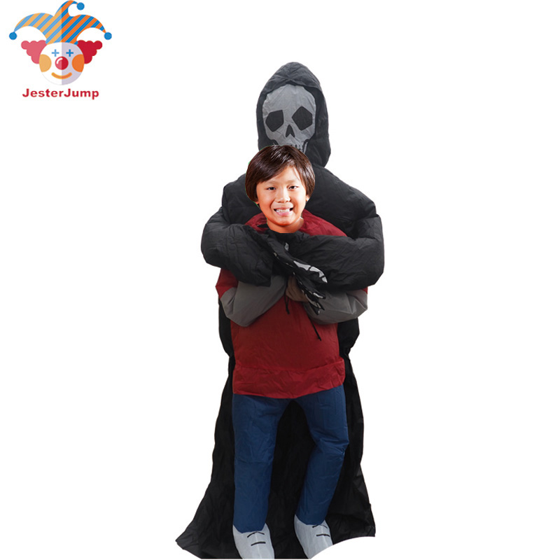 Image 3 - Ghost Inflatable Green Alien Costume Anime Cosplay Grim Reaper Fancy Dress Adult Men Halloween Alien Ghost Costume For Kid Women