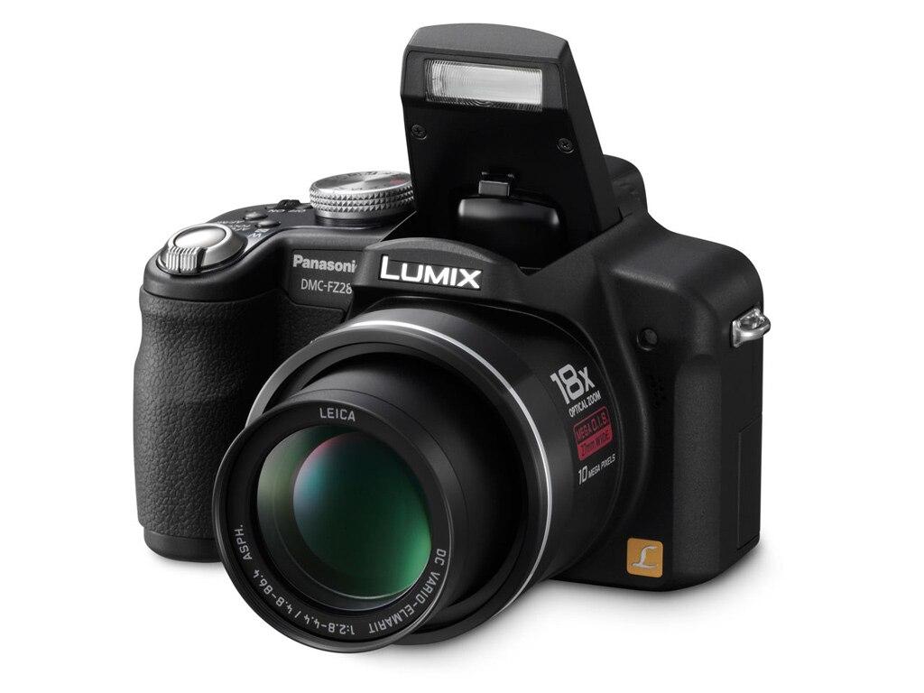 USED,Panasonic FZ28 10.7 MP Digital Camera with 18x Optical zoom and 2.7-inch LCD - Black