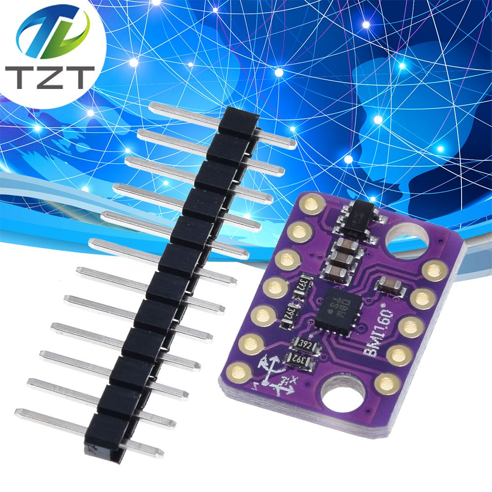 Gravity:I2C BMI160 6-Axis Inertial Motion Sensor,16-bit 3-axis accelerometer with ultra-low-power 3-axis gyroscope,Built-in 3-axis acceleration and LDO power management chip,can detect running,fitness
