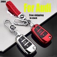 ZOBIG 3 Taste Weiche Tpu Auto Remote Key Fob Abdeckung Fall Für Audi A3 8L 8P A4 B6 B7 b8 A6 C5 C6 4F RS3 Q3 Q7 TT-in Schlüsseletui für Auto aus Kraftfahrzeuge und Motorräder bei