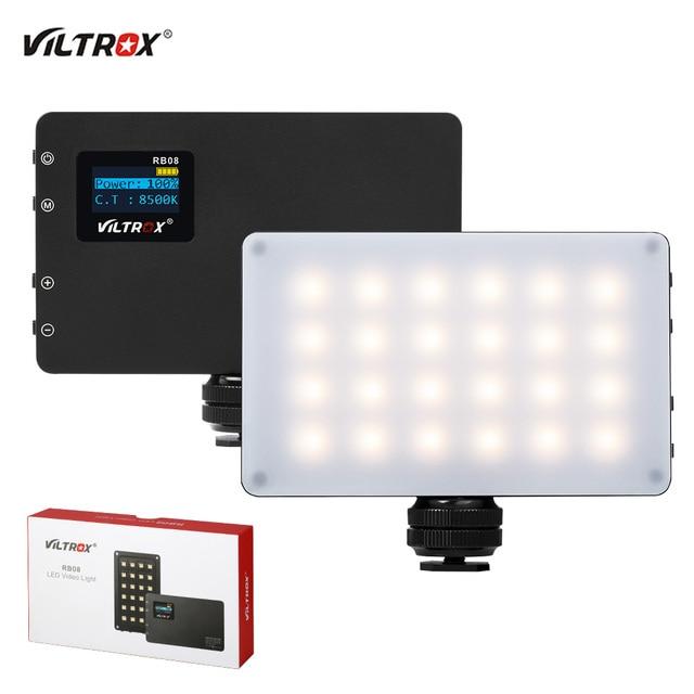 Viltrox RB08 Bi Kleur 2500K 8500K Mini Video Led Light Draagbare Vullen Licht Ingebouwde batterij Voor Telefoon Camera Schieten Studio