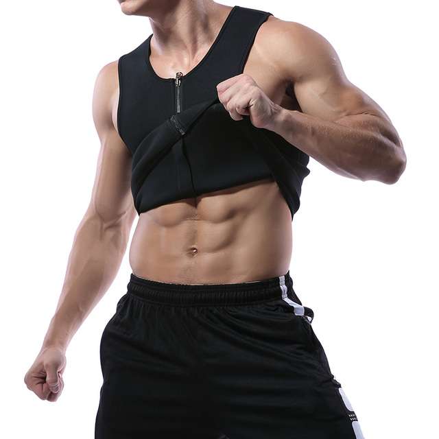 Miss Moly Men Shapers Waist Trainer Body Shaper Sauna Sweat Suit Bodysuit Men Slimming Belt Workout Fitness Tops 5
