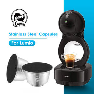 COFFEE-FILTERS Dolce Gusto Refillable Capsule-Pod Lumio-Machine Stainless-Steel Nescafe