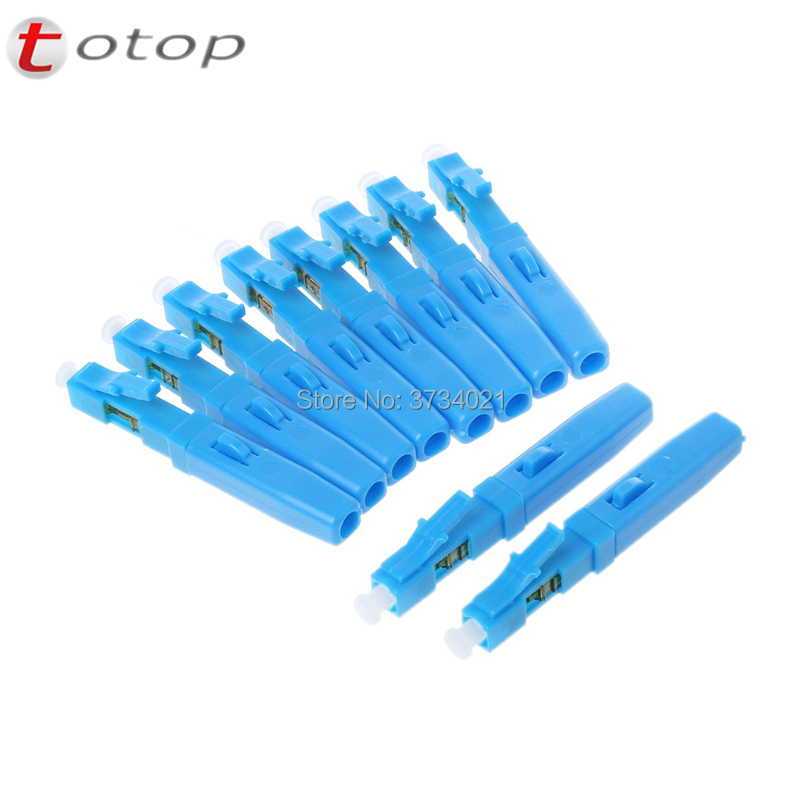 Free Shipping 10Pcs LC/APC LC/UPC Fast Connector Single-mode Fiber Optic Connector Embedded Type FTTH Fiber Optic Fast Connector