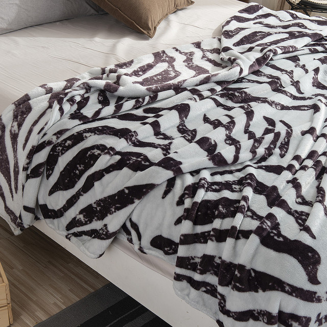 Thin Soft Zebra Striped Blanket