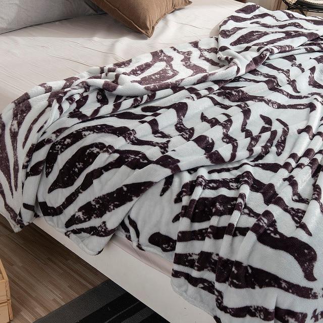 Thin Soft Zebra Striped Blanket