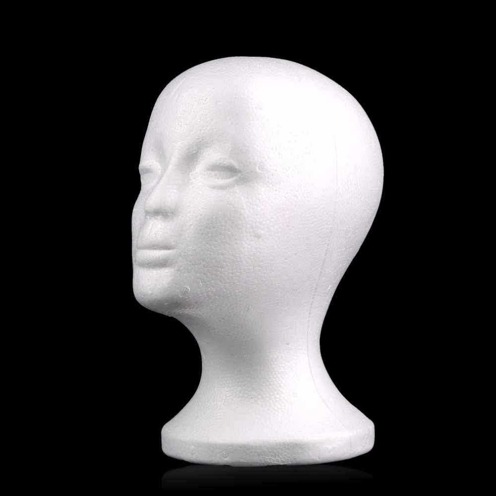 2017 الساخن الأبيض الإناث الستايروفوم المعرضة القزم رئيس نموذج رغوة الإسفنج شعر مستعار نظارات عرض نظارات غطاء عرض موقف