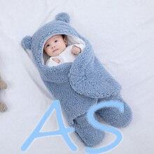 Envelope Sleeping-Bag Newborn-Baby Cotton for Thicken Cocoon Blankets Wrap Soft 0-9-Months