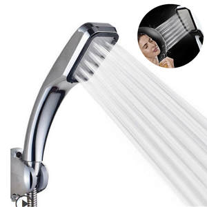 Shower-Head Powerfull Bathroom Water-Saving High-Pressure Spray 300-Holes Handheld Boosting