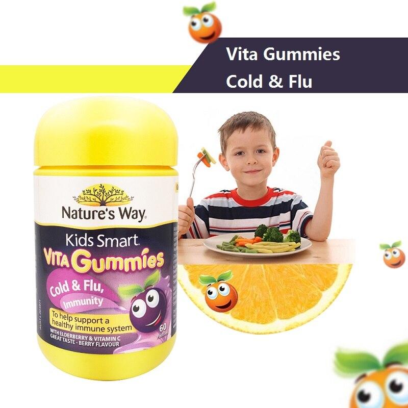 Australia NATURE WAY Kids Children Smart VITAGUMMIES Zinc VC COLD FLU IMMUNITY Growth Development Brain Function Immune System