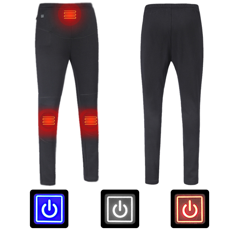 Women Winter USB Electric Heated Pants Thermal Travel Warm Hiking Pants Outdoor Heating Trousers  Sports Pants