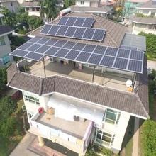 цена на Solar System7KW Complete Solar Panel 300w 30v Solar Inverter 7kw 220v Pure Sine Wave MPPT Support Panneau Solaire Grid TieRoof