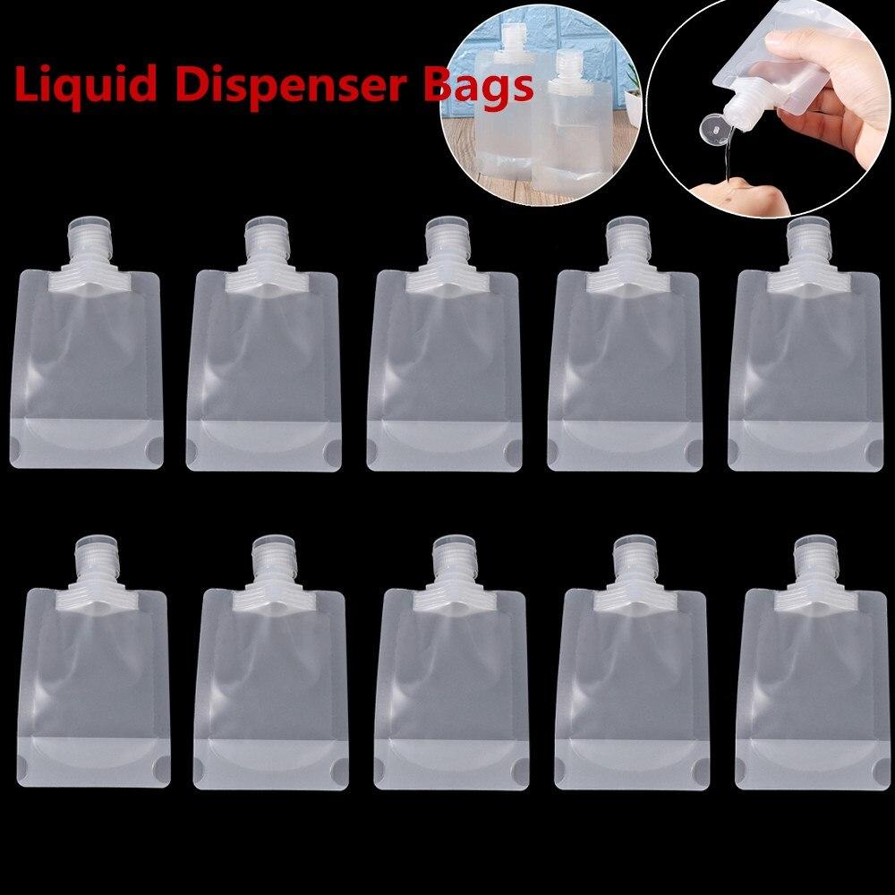 Прозрачные многоразовые герметичные пополняемые мешочки, дорожные косметические контейнеры для хранения шампуня, лосьона, жидкости, Диспе...