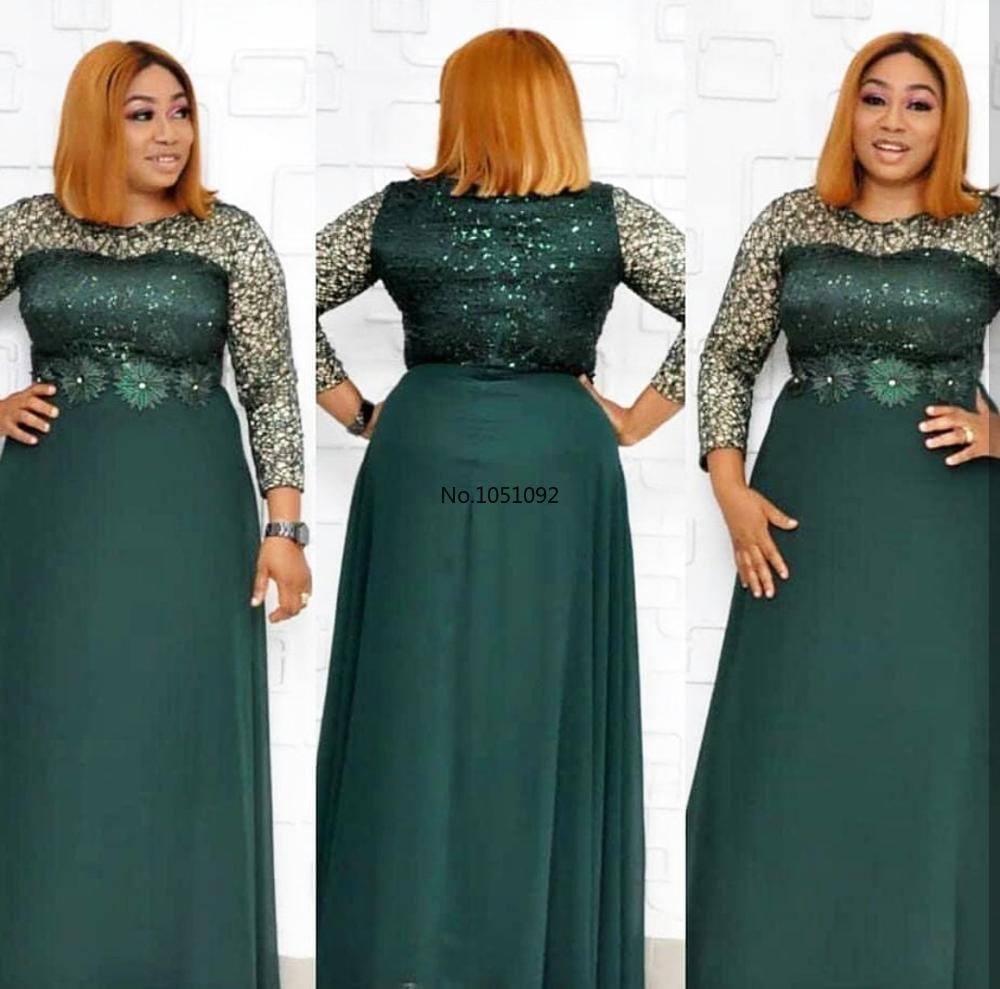 2020 Дашики африканская мода с длинным рукавом Сексуальная размера плюс шифоновое длинное платье с для леди|Африканская одежда|   | АлиЭкспресс