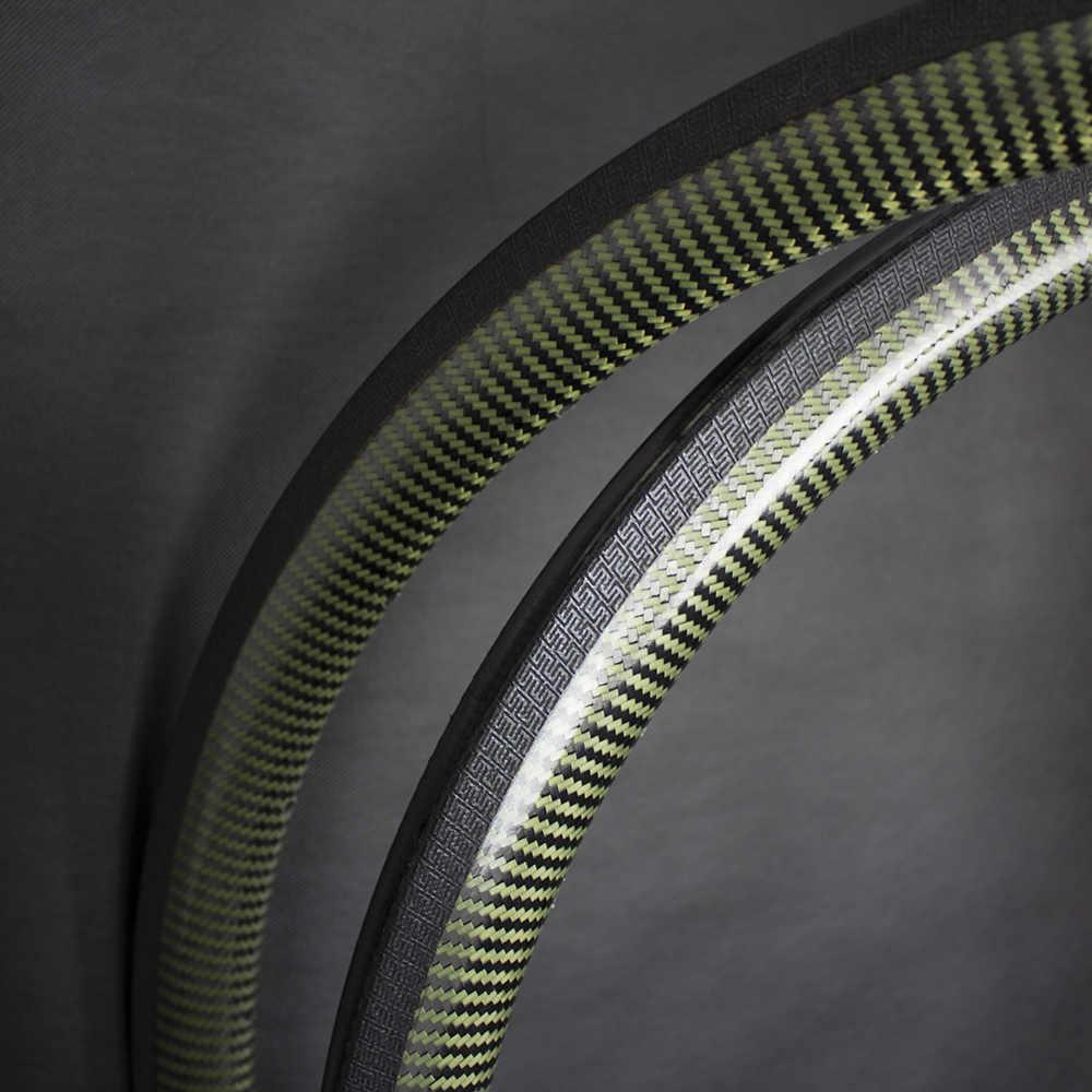 Jante de route 20 trous Cyclocross vélo carbone Kevlar 35mm jantes 700C route vélo frein à disque et jante frein Tubeless/pneu/tubulaire