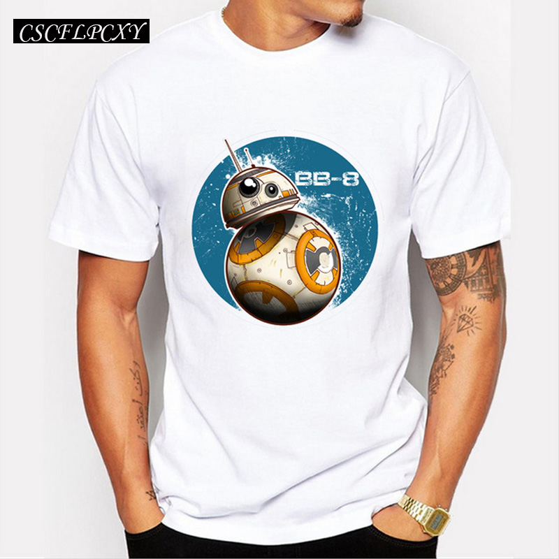 Star Wars Men Customized T-shirt BB-8 On The Move Fahsion Design Male Retro Printed Tops Short Sleeve Casual Hipster Tee