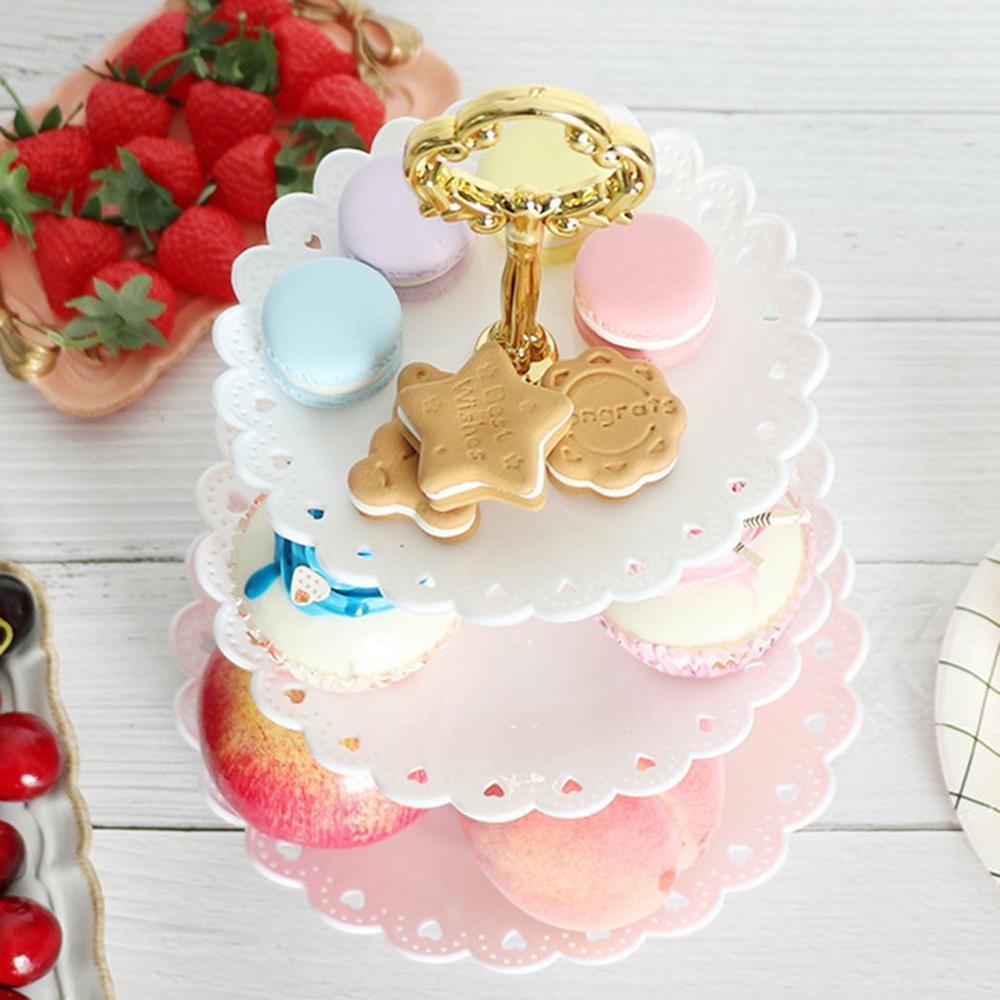Тарелка для фруктов в европейском стиле трехслойная стойка для закусок гостиная фруктовая чаша свадебный торт стойка конфетная стойка