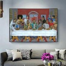 Hip hop música rapper star legend a última ceia arte cartaz e cópias da pintura em tela fotos para sala de estar decoração casa