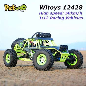 Wltoys 12428 RC Car 4WD 2.4Ghz 1:12 Radio Remote Control Crawler Off-road Model Toy High Speed 50km/h Vehicle With LED Light 1
