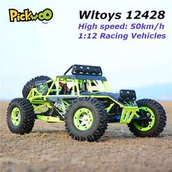 Wltoys 12428 RC Car 4WD 2.4Ghz 1:12 Radio Remote Control Crawler Off-road Model Toy High Speed 50km/h Vehicle With LED Light