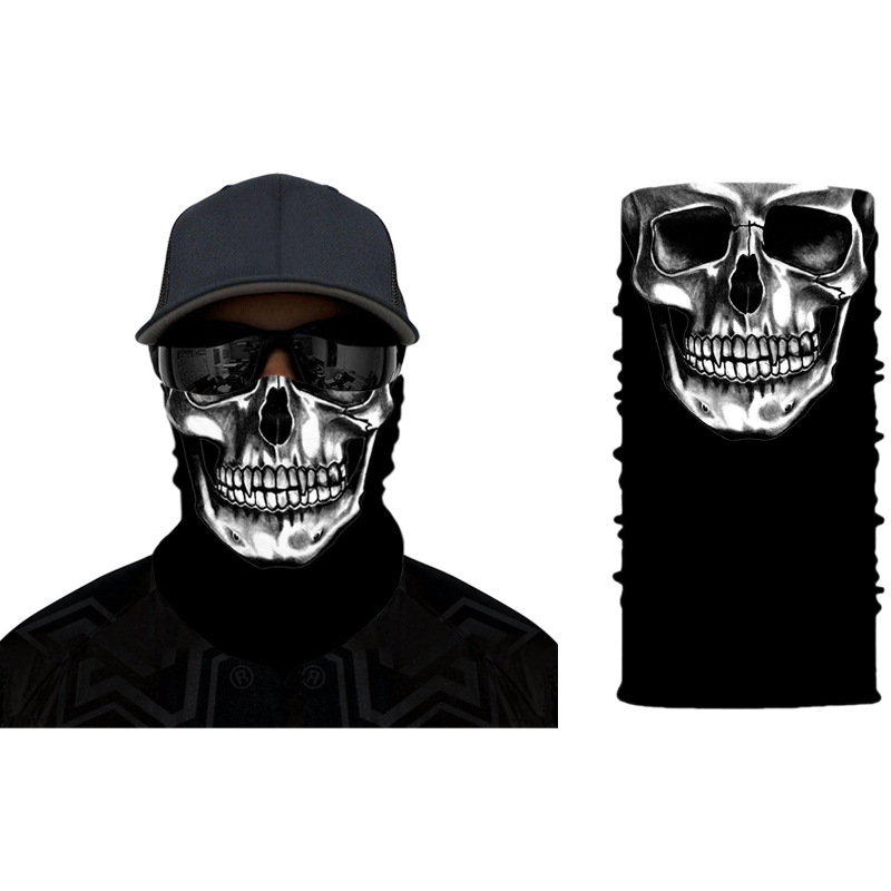 Skull Bandana Face Mask Szalik Komin Windproof Fashion Mouth Face Mask Skull Outdoor Riding Line Scarf Outdoor Sports