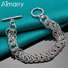 Aimarry 925 Sterling Silver Circle TO Bracelet For Women Party Engagement Wedding Charm Gifts Fashion Jewelry
