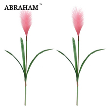 90cm Plastic Leaves Large Artificial Plants Fake Reed Branch Pink Onion Grass Silk Foxtail Grasses For Wedding Autumn Home Decor foxtail