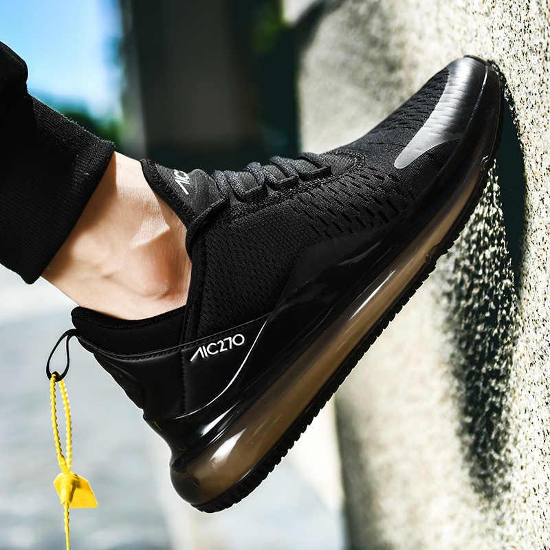 Alta qualidade tênis de corrida dos homens almofada ar masculino calçados dropshipping 270 novo zapatillas hombre mais tamanho 46
