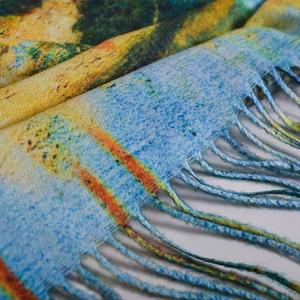 Image 5 - [BYSIFA] כחול חורף צעיפי צעיפי אופנה Utralong קשמיר פשמינה מודפס 200*70cm גבירותיי צוואר צעיף חיג אב echarpes chales