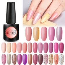 Rencontrez à travers le vernis à ongles nu 7ml vernis à ongles UV vernis à ongles hybride Semi Permanent(China)