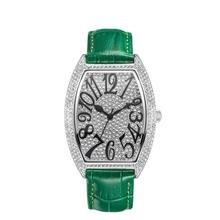 2020 new devena Cask type quartz watch woman full diamond bracelet watches leather waterproof watch ladies top brand clock lady цена 2017