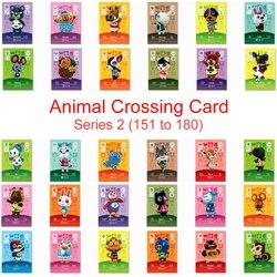 Serie 2 (151-180) animal Crossing Kaart Amiibo Kaart Werken Voor Ns 3DS Game New Horizons Pekoe Bianca Beau Ruby Julian Strooi