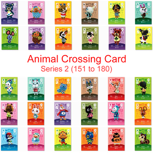Series 2 (151 to 180) Animal Crossing Card Amiibo Card Work for NS 3DS Game New Horizons Pekoe Bianca Beau Ruby Julian Sprinkle