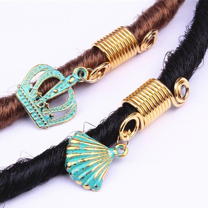 5 Pcs/Pack Gold 8 Styles Charms Diy Shell Hair Braid Dread Dreadlock Beads Clips Cuffs Rings Jewelry Dreadlock Hair Accessories
