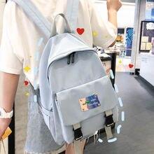 Student School Bags for Teenage Girls Backpack Female Oxford Schoolbag Teen Bookbags Women College Bagpack Lightweight