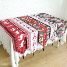 Christmas table flag tablecloth products decoration foreign trade mat jacquard household articles