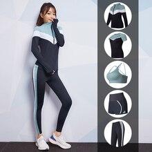 Vansydical Gym Yoga Sets Women's Sports Suits Stretchy Running Sportswear Fitness Training Joggers Clothing 5-6pcs недорого