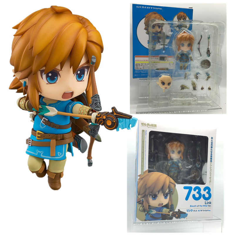 10CM Zelda Figure Breath Of The Wild 733 Ver Edition Deluxe Version Action Figure Link Toy Doll Cute Gift For Christma