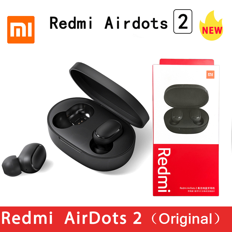 Original Xiaomi Redmi Airdots 2 Wireless TWS Earphone bluetooth 5.0 Earphone Reduction Mic Voice Control Airdots S Stereo Noise