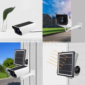 Image 4 - 1080P ip камера на солнечной батарейке 2MP беспроводная Wi Fi батарея охранное Наблюдение Водонепроницаемая наружная камера двухстороннее аудио видео регистратор