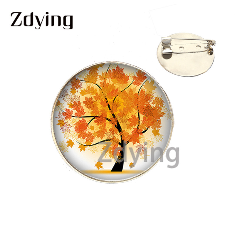 Zdying moda super mamie padrão broche redondo 25mm de vidro cabochon cúpula emblema metal pinos para avó jóias mi031