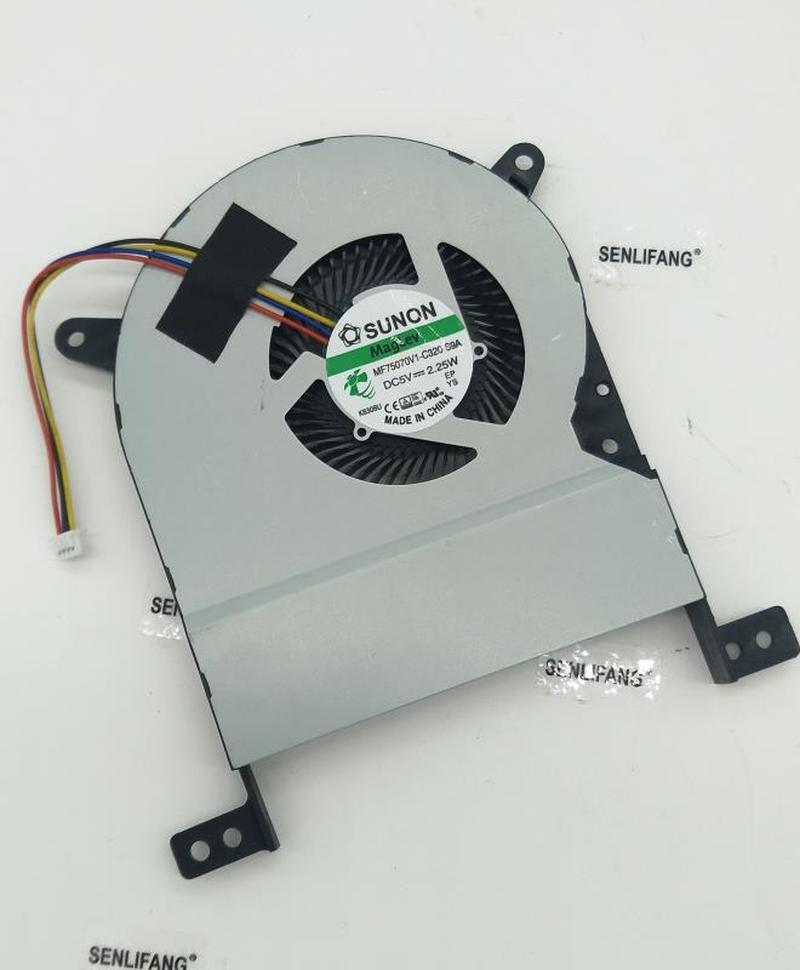 Free Shipping Laptop CPU Cooling Fan For SUNON MF75070V1-C320-S9A DC5V 2.25W ASUS X756UA/UAM X756UX X756UXM K756U A756U